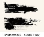 vector set of black brush... | Shutterstock .eps vector #680817409