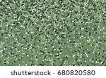 light green vector pattern with ... | Shutterstock .eps vector #680820580