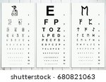 chart to test visual acuity... | Shutterstock . vector #680821063