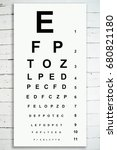 chart to test visual acuity... | Shutterstock . vector #680821180