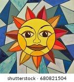 An Acrylic Painting Of A Sun...