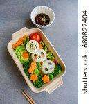 delicious homemade vegetarian...   Shutterstock . vector #680822404