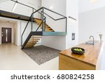 Modernistic Interior With...
