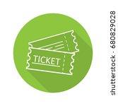 tickets flat linear long shadow ... | Shutterstock .eps vector #680829028