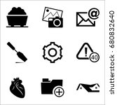 set of 9 miscellaneous icons... | Shutterstock .eps vector #680832640