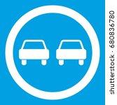 no overtaking road traffic sign ... | Shutterstock .eps vector #680836780
