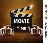 online movie and television... | Shutterstock .eps vector #680837380