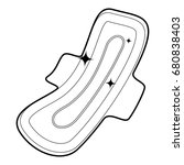 clean pad icon in outline style ... | Shutterstock .eps vector #680838403