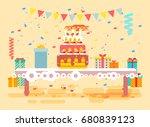 stock vector illustration huge... | Shutterstock .eps vector #680839123