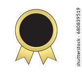 label   award with ribbons.... | Shutterstock .eps vector #680839519