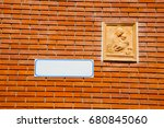 milan  in italy old church... | Shutterstock . vector #680845060
