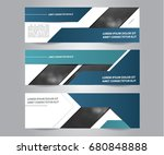 set of modern business banner... | Shutterstock .eps vector #680848888