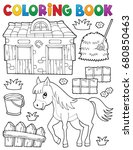 coloring book horse and related ... | Shutterstock .eps vector #680850463
