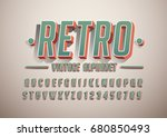 vector of bold modern font and... | Shutterstock .eps vector #680850493