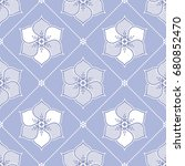 seamless pattern of lace lotus... | Shutterstock .eps vector #680852470