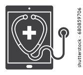 ehealt of e health concept for... | Shutterstock .eps vector #680859706