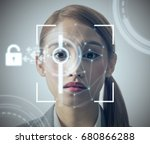 biometric authentication... | Shutterstock . vector #680866288
