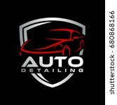 auto detailing car logo | Shutterstock .eps vector #680868166
