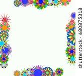holiday frame. template for... | Shutterstock .eps vector #680875318
