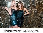 two gorgeous glamorous sexy... | Shutterstock . vector #680879698