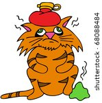 an image of a sick cat with... | Shutterstock . vector #68088484