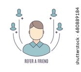 vector refer a friend icon in... | Shutterstock .eps vector #680889184