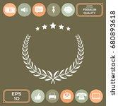 laurel wreath with five stars   ... | Shutterstock .eps vector #680893618