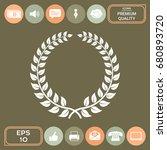 laurel wreath   design symbol | Shutterstock .eps vector #680893720