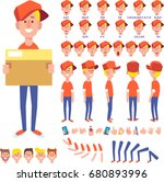 front  side  back view animated ... | Shutterstock .eps vector #680893996