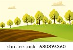 agriculture and farming... | Shutterstock .eps vector #680896360