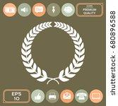 laurel wreath for your design | Shutterstock .eps vector #680896588