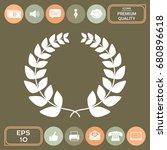 laurel wreath   for your design | Shutterstock .eps vector #680896618