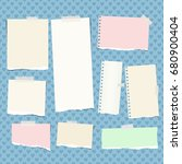 ripped colorful  pastel note ...   Shutterstock .eps vector #680900404
