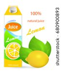 lemon juice  tropical  fresh ... | Shutterstock .eps vector #680900893