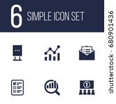 set of 6 advertising icons set... | Shutterstock .eps vector #680901436
