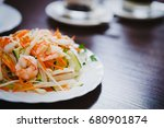 vietnamese salad with boiled... | Shutterstock . vector #680901874