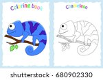 coloring book page for... | Shutterstock .eps vector #680902330