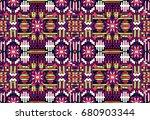abstract seamless oriental... | Shutterstock .eps vector #680903344