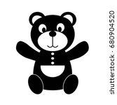 teddy bear icon | Shutterstock .eps vector #680904520
