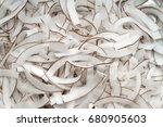 strip coconut flakes background ... | Shutterstock . vector #680905603