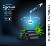 collagen serum and vitamin... | Shutterstock .eps vector #680908333