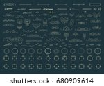 vintage decor elements and ... | Shutterstock .eps vector #680909614