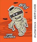 vector cartoon image of funny... | Shutterstock .eps vector #680911408