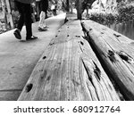 the old wood from the boat that ... | Shutterstock . vector #680912764