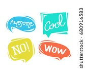 pack of colorful balloon text... | Shutterstock .eps vector #680916583
