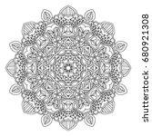 mandala. round ornament.vintage ... | Shutterstock .eps vector #680921308