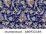 traditional indian paisley... | Shutterstock . vector #680922184