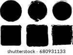 grunge post stamps collection ... | Shutterstock .eps vector #680931133