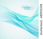 elegant vector flowing blue...   Shutterstock .eps vector #680932258