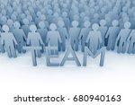 teamwork. large group of stick...   Shutterstock . vector #680940163